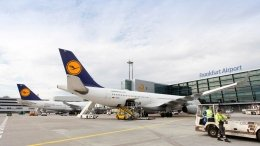 Lufthansa Airplane at  Frankfurt Airport
